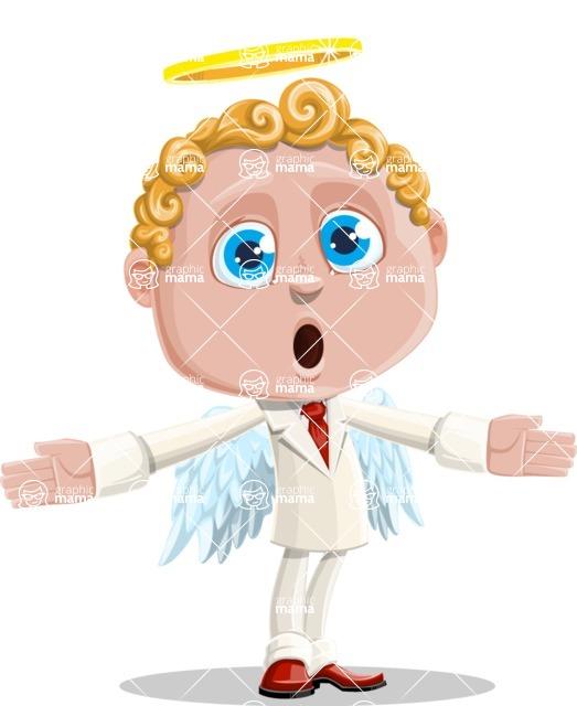 Business Angel Cartoon Vector Character AKA Angello - Lost