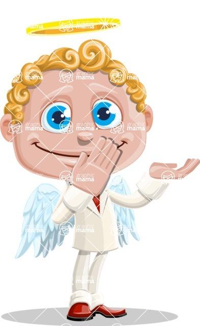 Business Angel Cartoon Vector Character AKA Angello - Oops