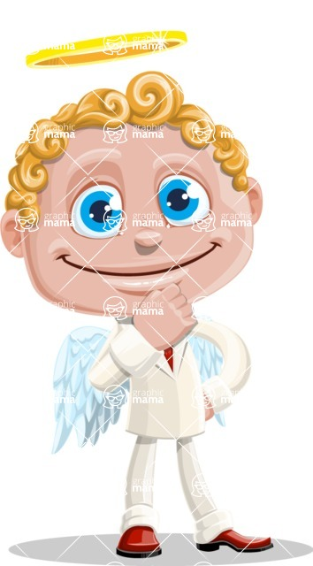 Business Angel Cartoon Vector Character AKA Angello - Patient