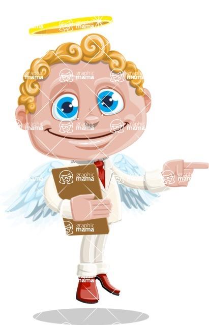 Business Angel Cartoon Vector Character AKA Angello - Notepad 1