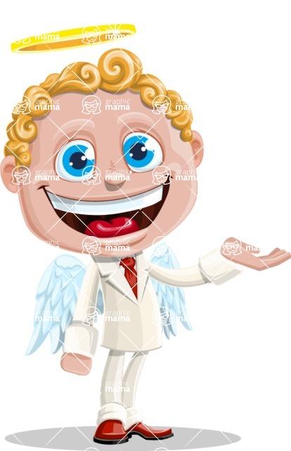Business Angel Cartoon Vector Character AKA Angello - Showcase 1