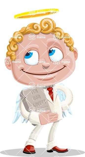 Business Angel Cartoon Vector Character AKA Angello - Ten God Advert