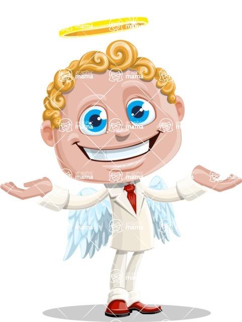 Business Angel Cartoon Vector Character AKA Angello - Showcase 2