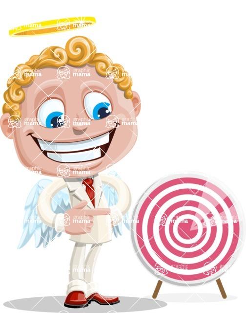 Business Angel Cartoon Vector Character AKA Angello - Target