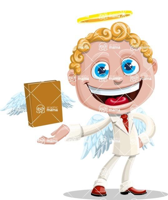 Business Angel Cartoon Vector Character AKA Angello - Book 2