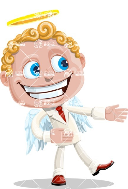 Business Angel Cartoon Vector Character AKA Angello - Show 2