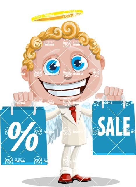 Business Angel Cartoon Vector Character AKA Angello - Sale 1