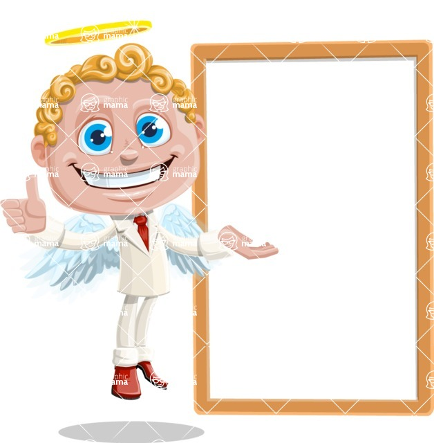 Business Angel Cartoon Vector Character AKA Angello - Presentation 3