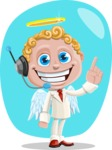 Business Angel Cartoon Vector Character AKA Angello - Shape 5
