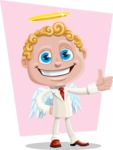Business Angel Cartoon Vector Character AKA Angello - Shape 7