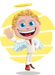 Business Angel Cartoon Vector Character AKA Angello - Shape 8