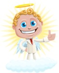 Business Angel Cartoon Vector Character AKA Angello - Shape 9