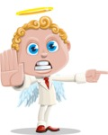 Business Angel Cartoon Vector Character AKA Angello - Direct Attention 1