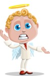 Business Angel Cartoon Vector Character AKA Angello - Confused
