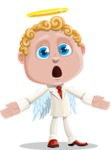 Business Angel Cartoon Vector Character AKA Angello - Scared 2