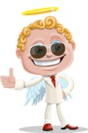 Business Angel Cartoon Vector Character AKA Angello - Sunglasses