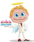 Business Angel Cartoon Vector Character AKA Angello - Cupcakes