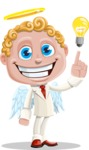 Business Angel Cartoon Vector Character AKA Angello - Idea