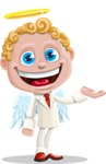 Business Angel Cartoon Vector Character AKA Angello - Showcase 1