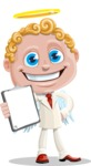 Business Angel Cartoon Vector Character AKA Angello - Notepad 2
