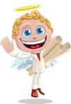Business Angel Cartoon Vector Character AKA Angello - Plans