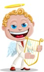Business Angel Cartoon Vector Character AKA Angello - Flute