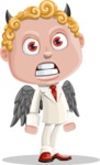 Business Angel Cartoon Vector Character AKA Angello - Devil
