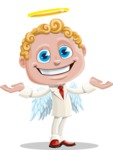 Business Angel Cartoon Vector Character AKA Angello - Showcase 2