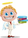 Business Angel Cartoon Vector Character AKA Angello - Books