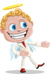 Business Angel Cartoon Vector Character AKA Angello - Show 2