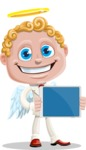 Business Angel Cartoon Vector Character AKA Angello - Tablet 2