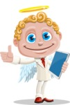 Business Angel Cartoon Vector Character AKA Angello - Tablet 3