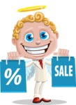 Business Angel Cartoon Vector Character AKA Angello - Sale 1