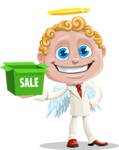 Business Angel Cartoon Vector Character AKA Angello - Sale 2