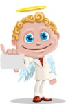 Business Angel Cartoon Vector Character AKA Angello - Sign 1