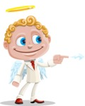 Business Angel Cartoon Vector Character AKA Angello - Point 1