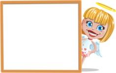 Angel Kid Vector Cartoon Character AKA Stella the Shining Angel - Presentation 4