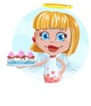 Angel Kid Vector Cartoon Character AKA Stella the Shining Angel - Shape 1