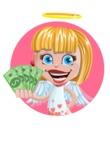 Angel Kid Vector Cartoon Character AKA Stella the Shining Angel - Shape 2