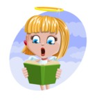 Angel Kid Vector Cartoon Character AKA Stella the Shining Angel - Shape 4