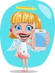 Angel Kid Vector Cartoon Character AKA Stella the Shining Angel - Shape 5