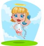 Angel Kid Vector Cartoon Character AKA Stella the Shining Angel - Shape 6