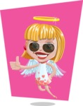 Angel Kid Vector Cartoon Character AKA Stella the Shining Angel - Shape 7
