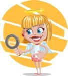 Angel Kid Vector Cartoon Character AKA Stella the Shining Angel - Shape 8