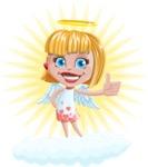 Angel Kid Vector Cartoon Character AKA Stella the Shining Angel - Shape 9