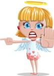 Angel Kid Vector Cartoon Character AKA Stella the Shining Angel - Direct Attention 1