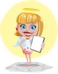 Angel Kid Vector Cartoon Character AKA Stella the Shining Angel - Shape 11