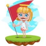 Angel Kid Vector Cartoon Character AKA Stella the Shining Angel - Shape 12