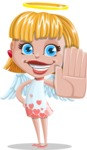 Angel Kid Vector Cartoon Character AKA Stella the Shining Angel - Stop 1