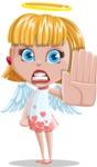 Angel Kid Vector Cartoon Character AKA Stella the Shining Angel - Stop 2